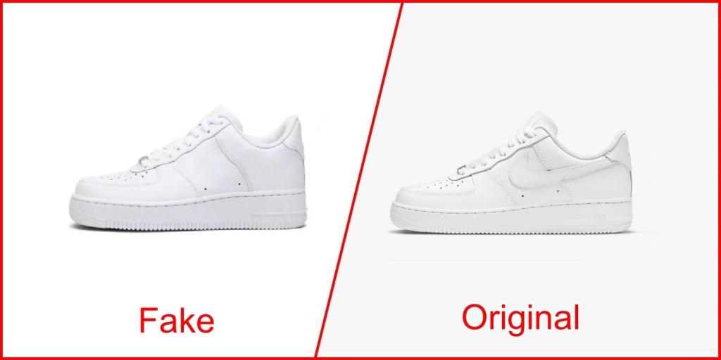 6. Air Force 1 - Nike Shoes Clone Vs Original