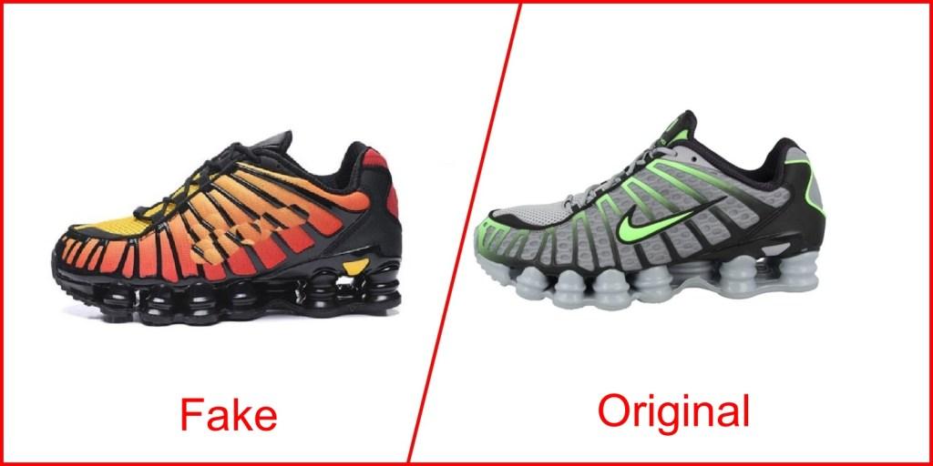9. Nike Shox TL - Fake Nike Shoes Vs Original