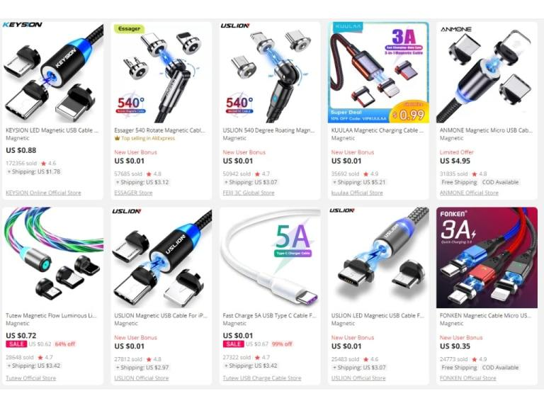 1. Megnetic Data Cables-aliexpress top selling products