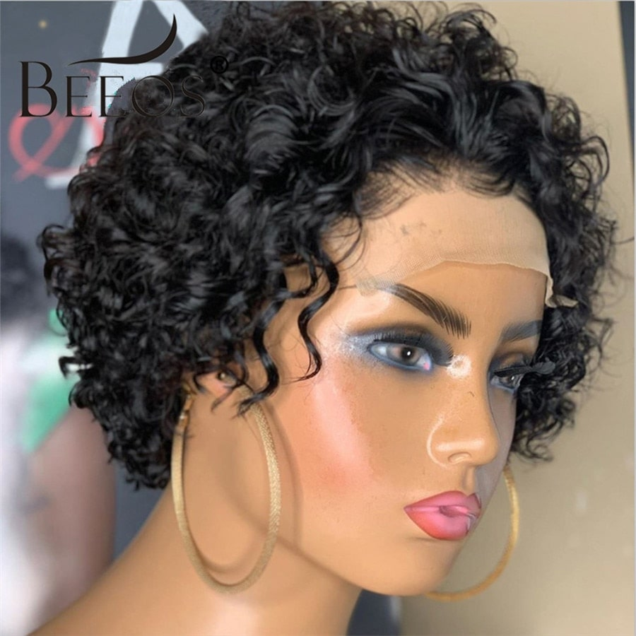 1.5. Beeos Pixie Cut Short Curly Wig-AliExpress Curly Hair