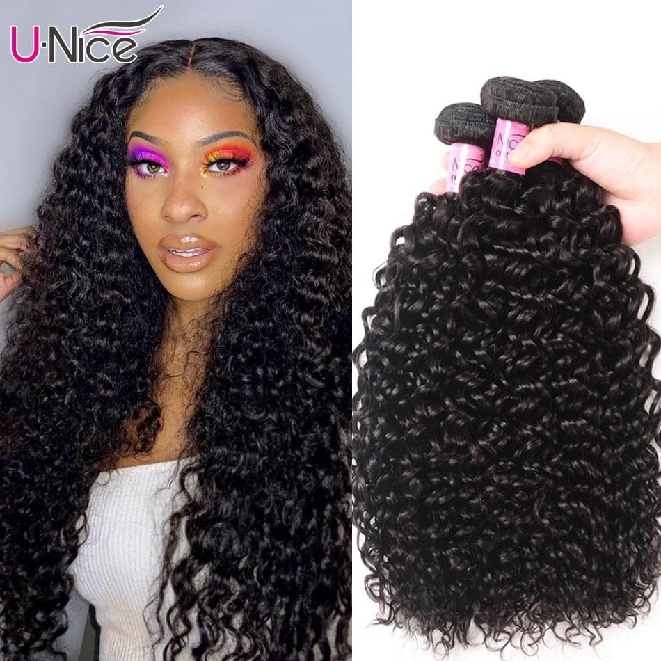 1.9. UNICE HAIR Malaysian Curly Weave-AliExpress Curly Hair