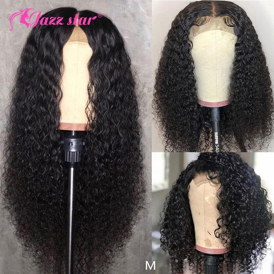 3.3. Jazz Star Brazilian Kinky Curly Non Remy Human Hair Wig-Best AliExpress
