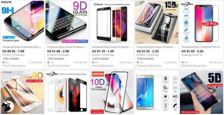 5. Tempered Glass Screen Protectors-aliexpress best sellers