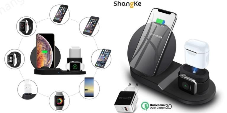 7. Shangke Wireless Charger 3 in 1 a-aliexpress best sellers