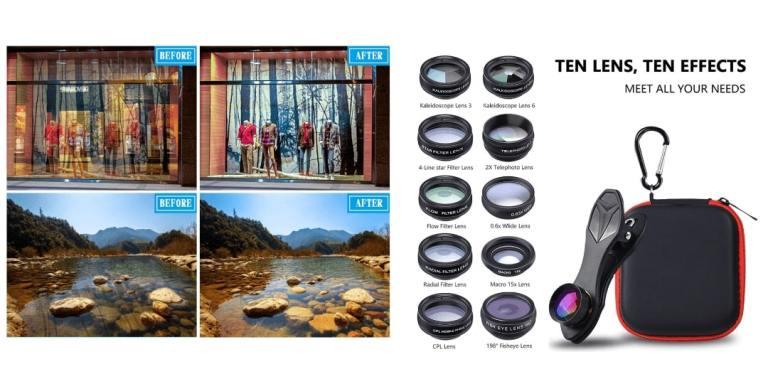 8. APEXEL Phone lens kit universal 10 in 1-aliexpress best sellers