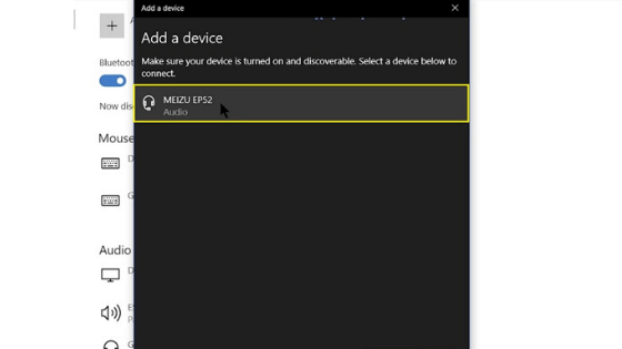 windows 10 bluetooth setting paired