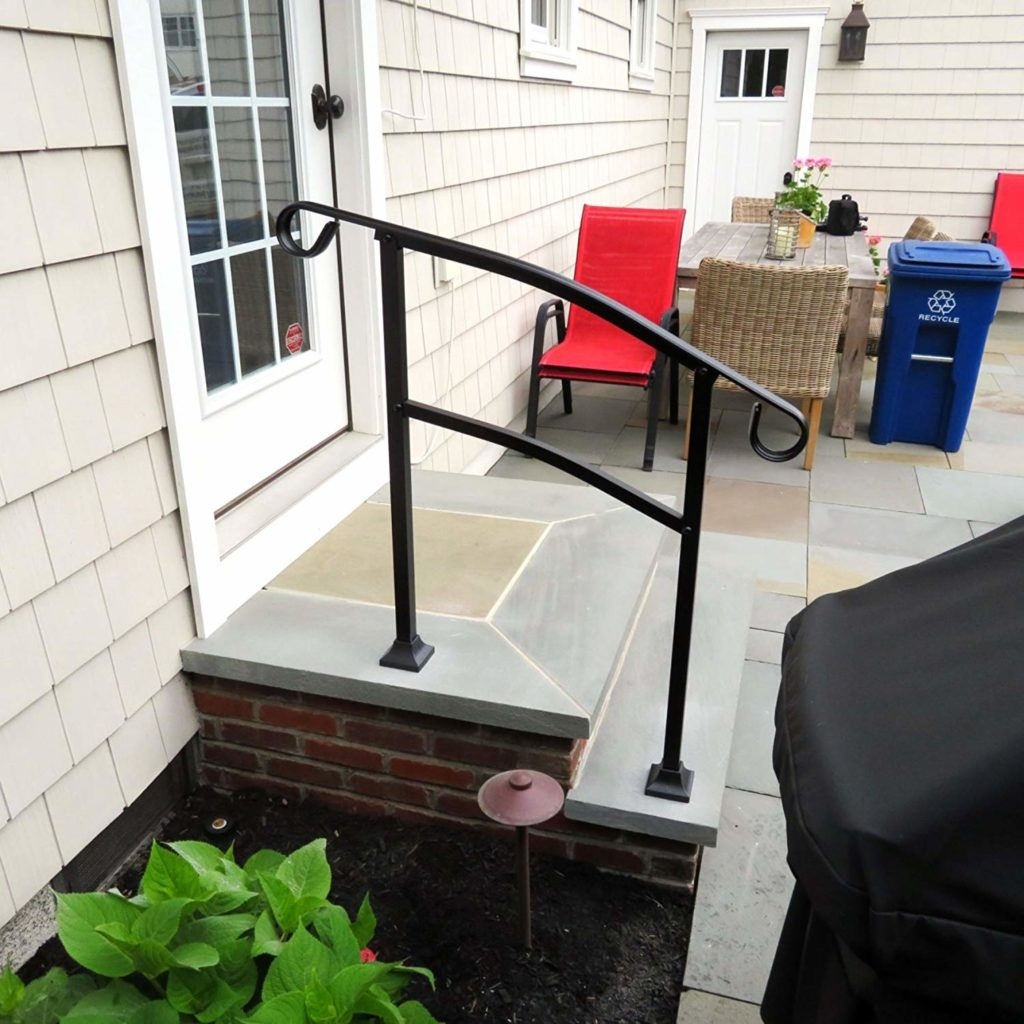 Hand Rail For Outdoor Steps Reviewcel   Outdoor Handrails For Concrete Steps   Contemporary   Hand Rail   Precast   Stair   Water Pipe