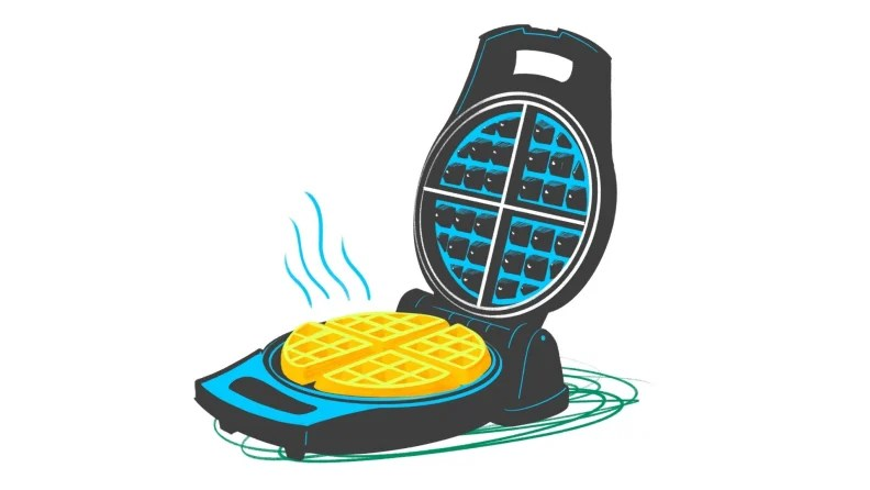 An illustration of a waffle maker.