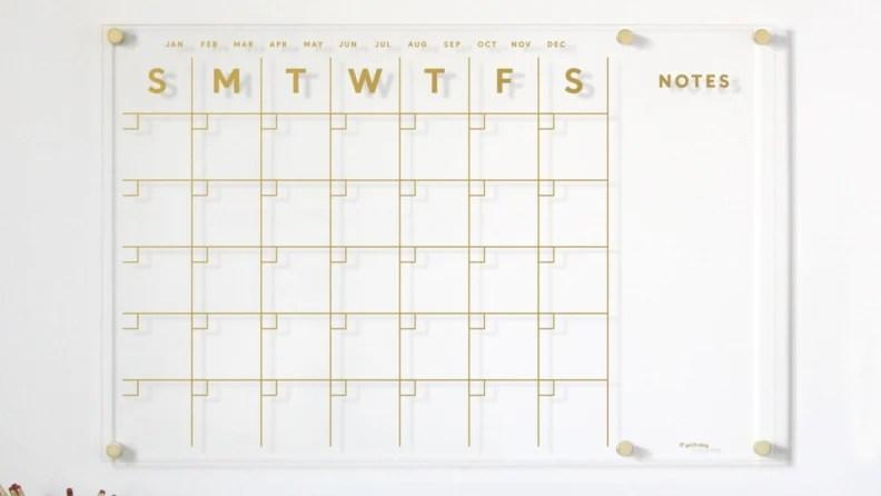 lucite calendar