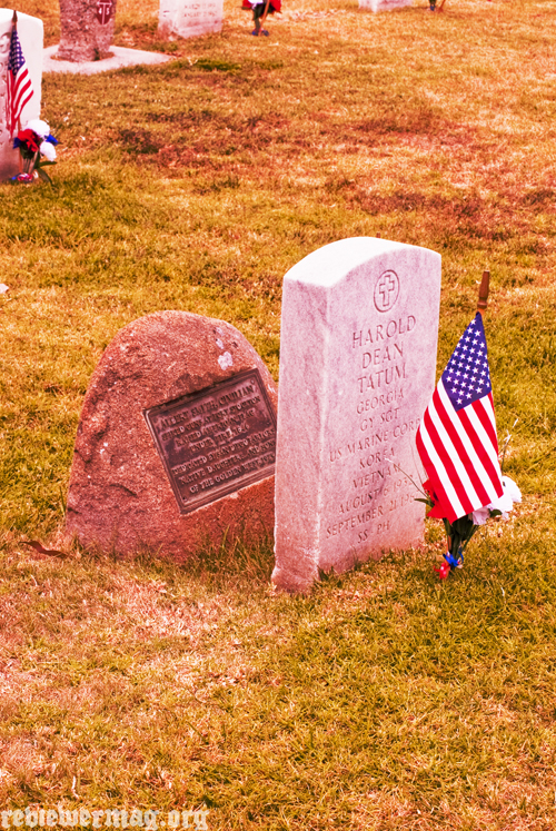 The military grave of  Albert B. Smith, a civilian, at Fort Rosecrans National Cemetery.  Photo by Rob Rowsey.