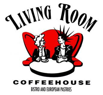 The famous Living Room Coffee Shop granny with punker logo. Not an accurate representation of their environment, but whatever.