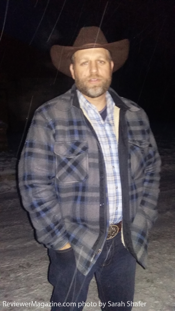 "Ammon Bundy on the day the second group of armed men came to offer ""security"". Photo by Sarah Shafer."
