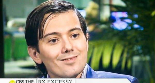 Is it appropriate for Martin Shkreli's pupils to be that dilated on such a well lit TV set? Might he simply be taking too many happy pills? Just asking.
