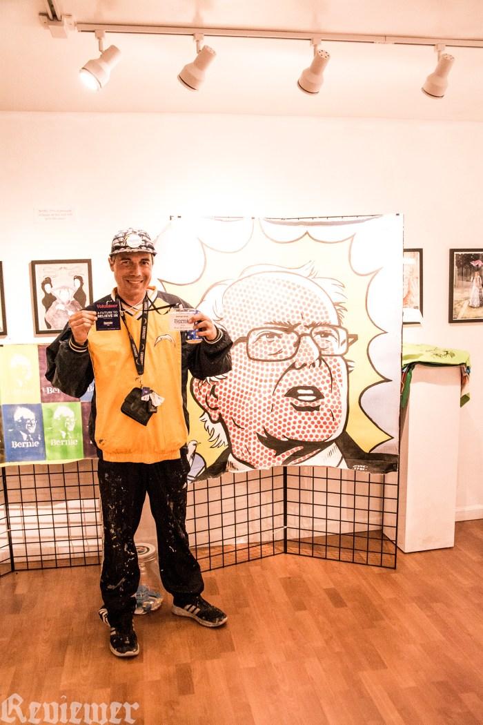 True Delorenzo and His tribute to Bernie ala' Roy Lichtenstein.