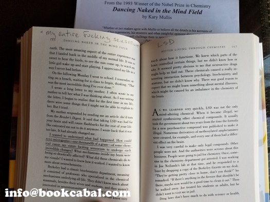 Dancing Naked In The Mind Field, by Kary Mullis, signed first edition in good condition with duscover in excellent condition, $195, sold with copy of Celebrity Magazine containing prior interview/article with author.