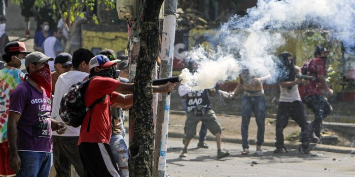 Nicaragua students pension protest.