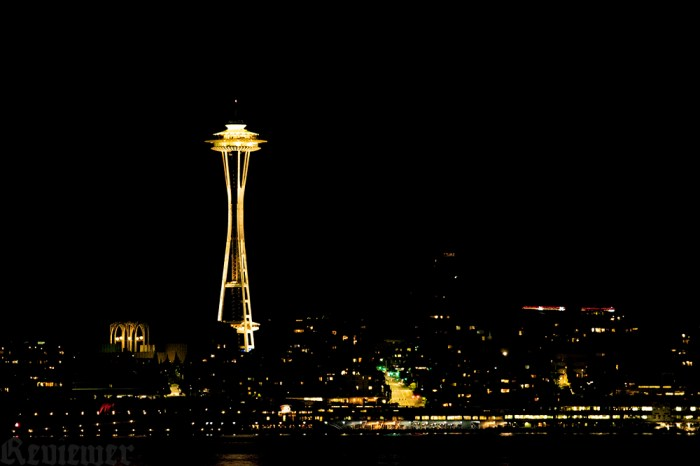 Seattle's downtown, Nikon D5300, 400 iso, Tamron digital lens at 200mm, f2.8 1/60 sec.