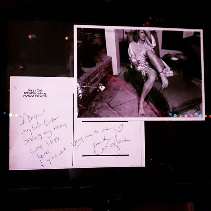 Memento: Courtney Love at Mary's Club, PDX.