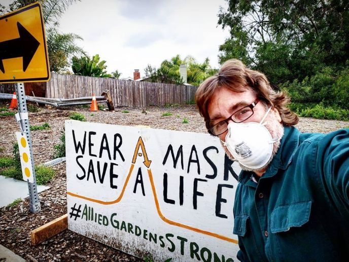 Wear a mask, save a life: a timely sign.