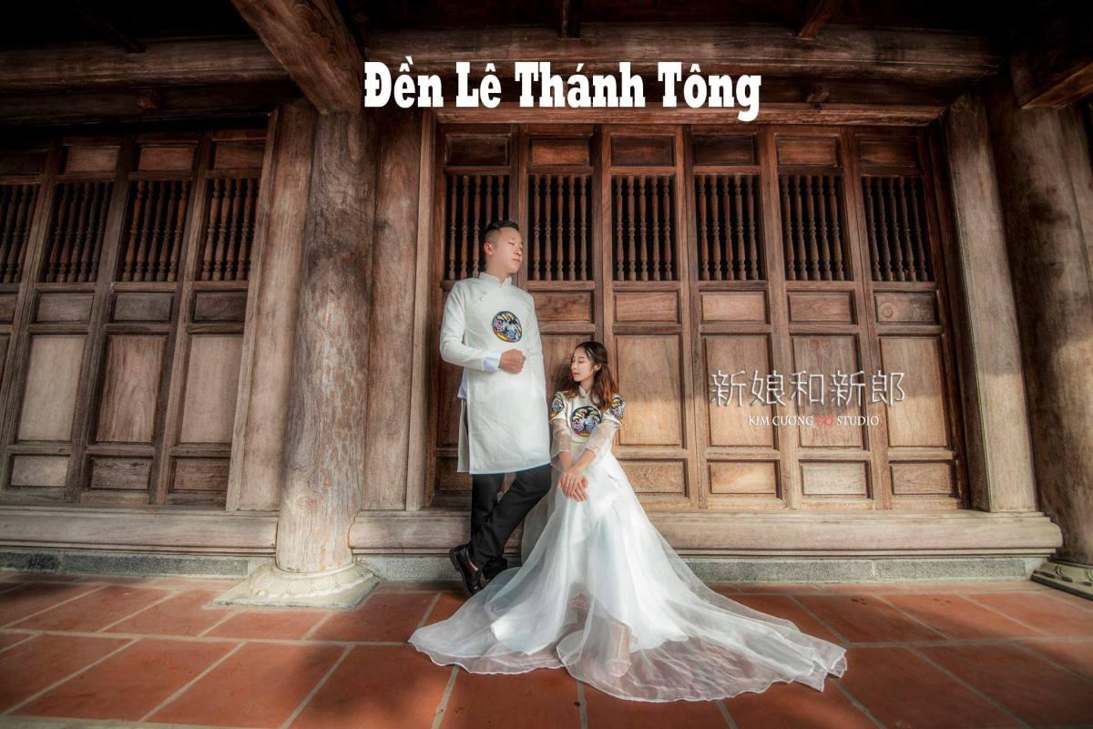 Cặp đôi chụp ảnh cưới tại Đền Lê Thánh Tông