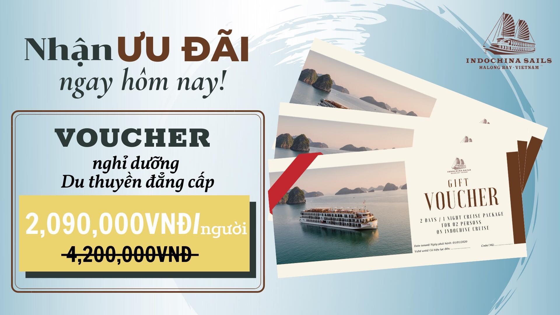 Du thuyền 5 sao Indochine tung voucher giảm giá chưa từng có trong lịch sử