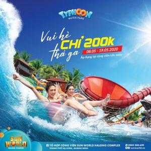 Poster quảng cáo giảm giá công viên nước chỉ còn 200k
