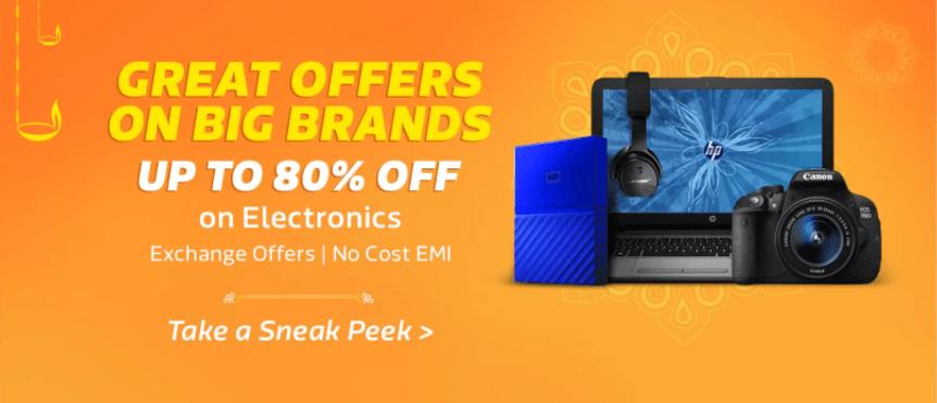 Flipkart Big Diwali Sale: Electronics