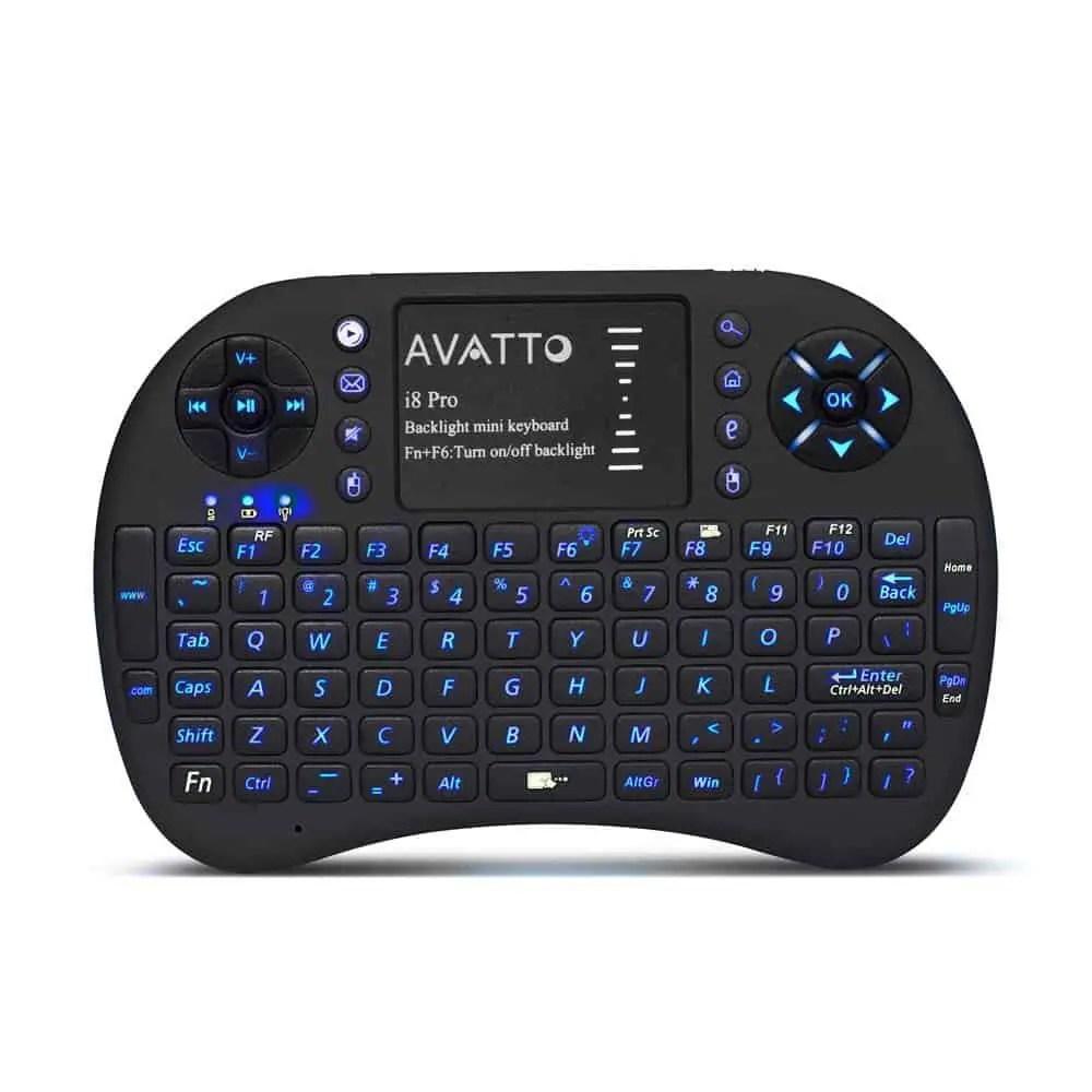 AVATTO i8 Pro LED Backlit Mini Keyboard