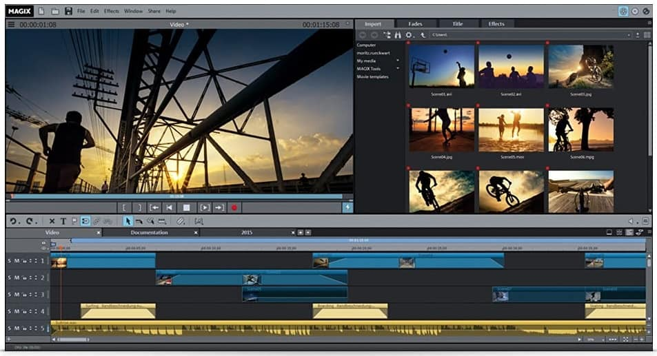MAGIX Movie Edit Pro Screen