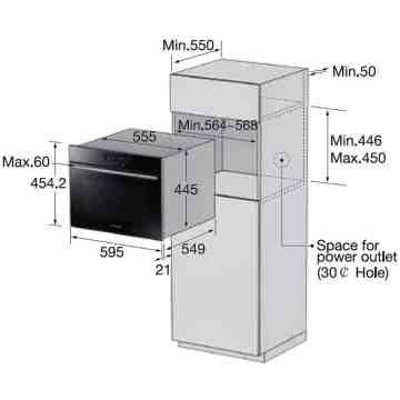 Samsung Prezio NQ50H5537KB Dimentions