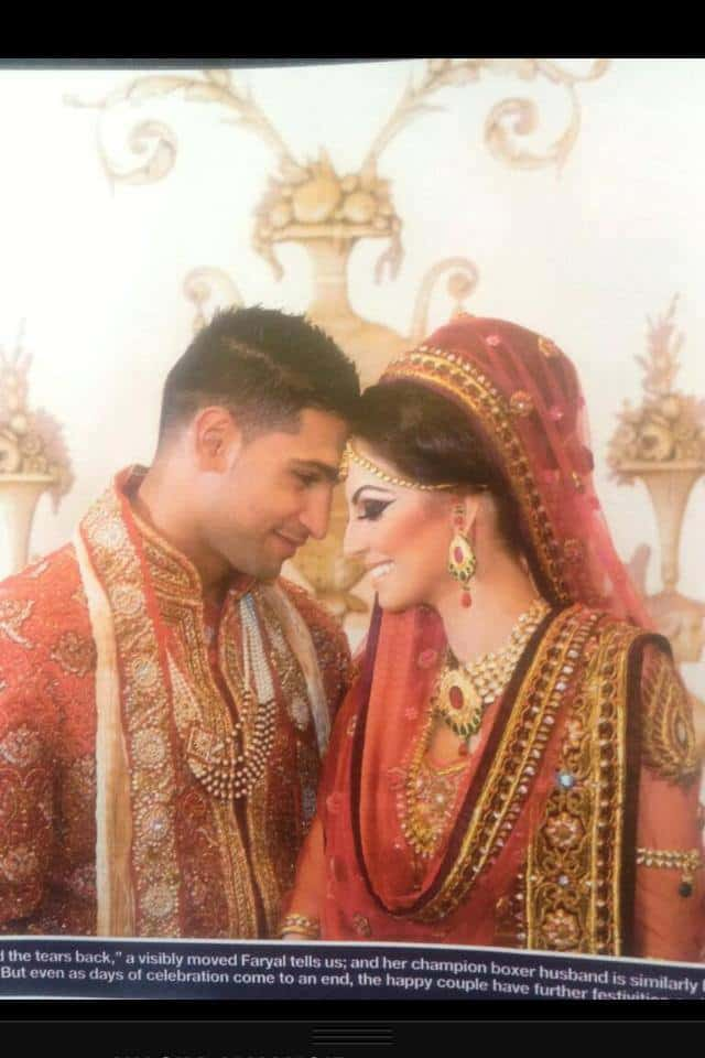 Boxer Amir Khan And Faryal Makhdooms Wedding Pictures Reviewitpk