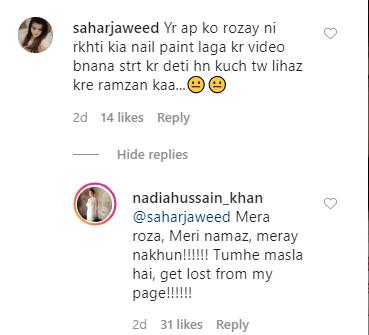 Nadia Hussain Shuts Down Trolls 12