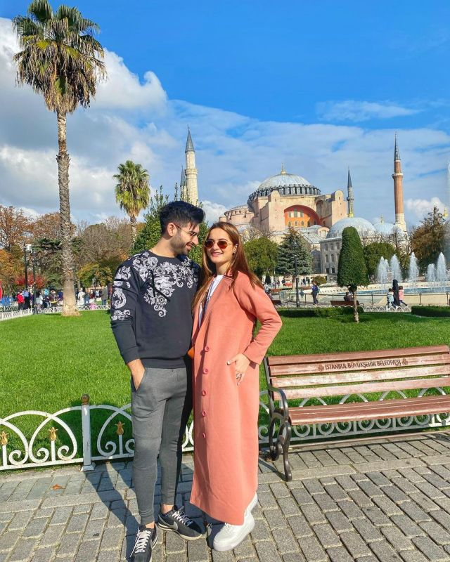 Aiman Khan and Muneeb Butt in Turkey - Day 2