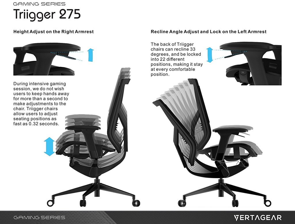 Vertagear Gaming Series Triigger 275 Ergonomic Office Chair Review