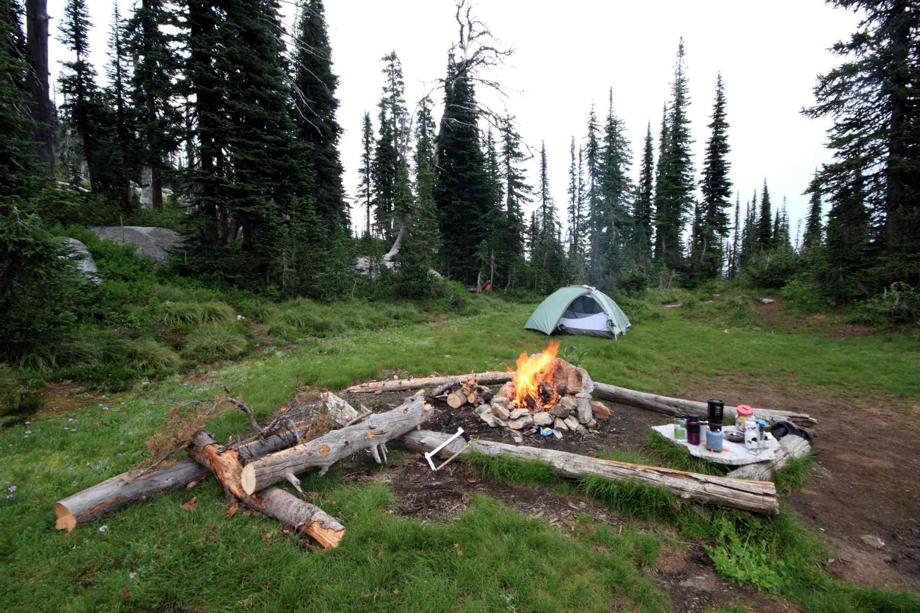 Camp, Beehive Lakes