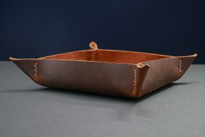 Handmade Leather Valet Tray