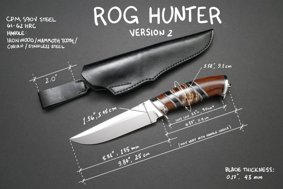 ROG Hunter Knife and Sheath V2