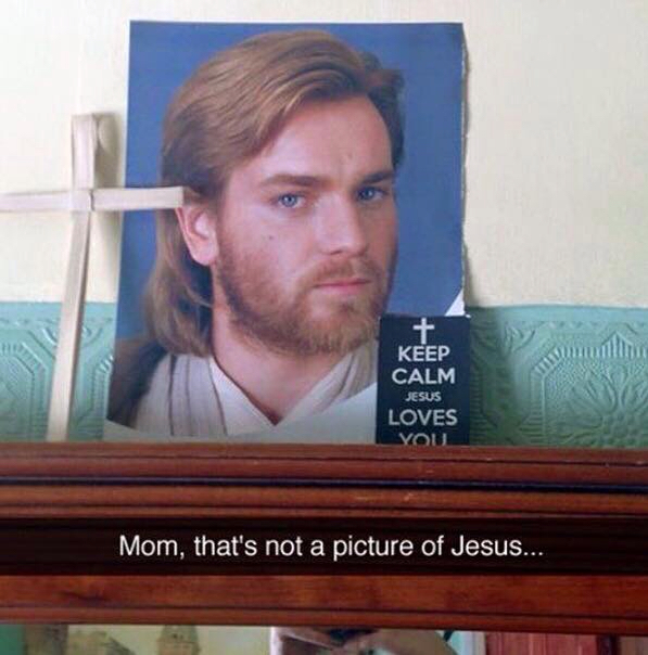 Mom! that's not a picture of Jesus!