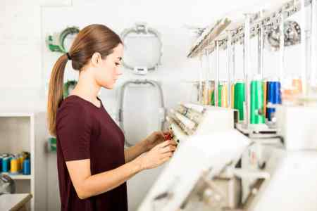 Girl with Best embroidery machine for home Business