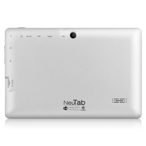 NeuTab N7 Pro 7 inch Tablet PC Quad Core Google Android 4.4 KitKat, HD 1024x600 Display, Bluetooth, Dual Camera, Google Play Pre-loaded, 3D-Game Supported (White)