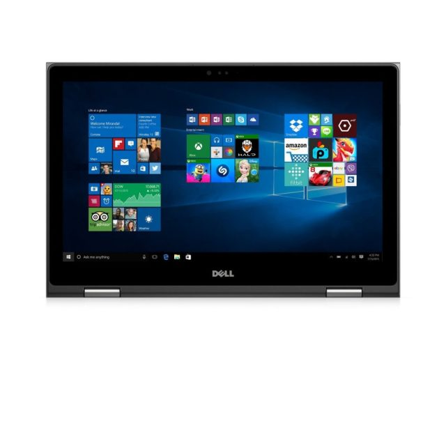 Dell Inspiron 15 5000 i5568-7477GRY 15.6 inch FHD 2-in-1 Tablet Laptop, Intel Core i7-6500U 2.5GHz Processor, 16GB RAM, 256GB SDD, Windows 10, Gray