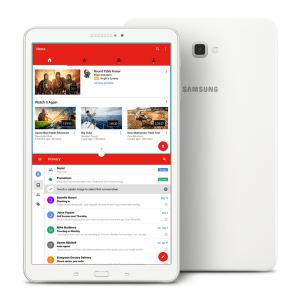 Samsung Galaxy Tab A 10.1 inch RAM 2 GB, 16 GB, WiFi, Google Android Tablet 6.0 Marshmallow, 1.6 GHz Exynos 7870 Octa-Core Processor, SM-T580NZWAXAR, White