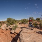 Look where you want to steer is easier said than done in Moab.