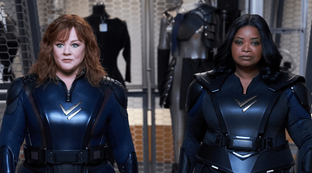 Melissa McCarthy & Octavia Spencer fly high in Thunder Force