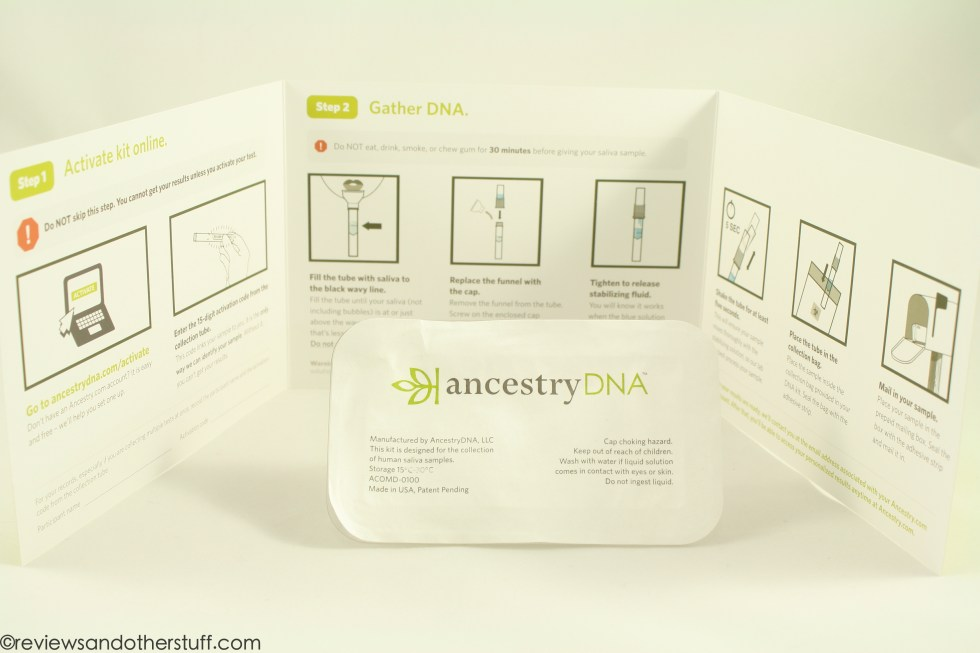 ancestry dna kit instruction