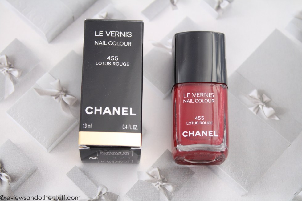 chanel nail polish lotus rouge