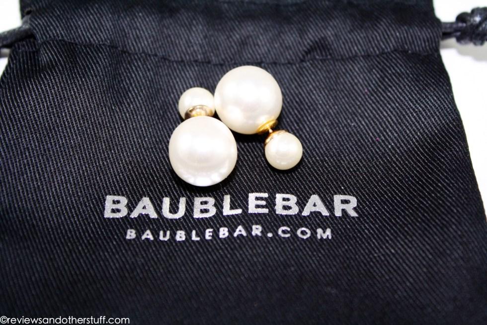 review on baublebar pearl 360 earrings