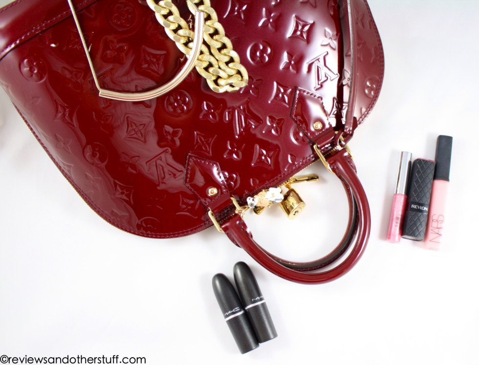 lv alma pm vernis griotte red