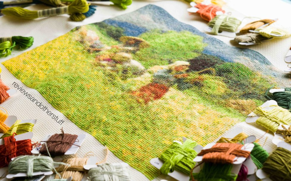 fernando amorsolo harvesting rice cross stitch pattern