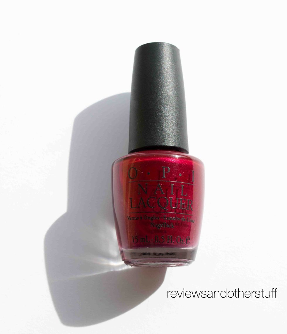 opi red nail polish review